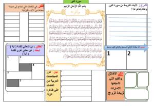 ورقة عمل سورة النور وقاية المجتمع الصف الثاني عشر مادة التربية الاسلامية ملفاتي