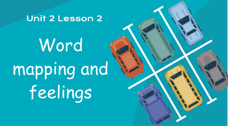 بوربوينت Word mapping and feelings للصف الخامس مادة اللغة الانجليزية