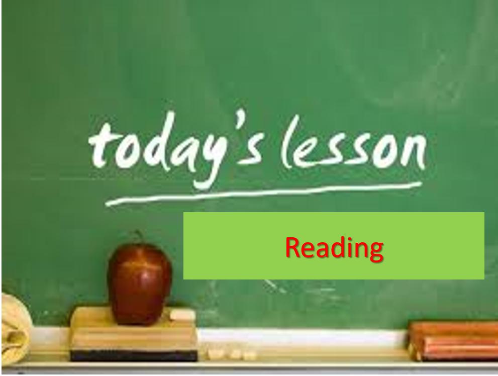 بوربوينت قراءة Reading للصف الثاني مادة اللغة الانجليزية