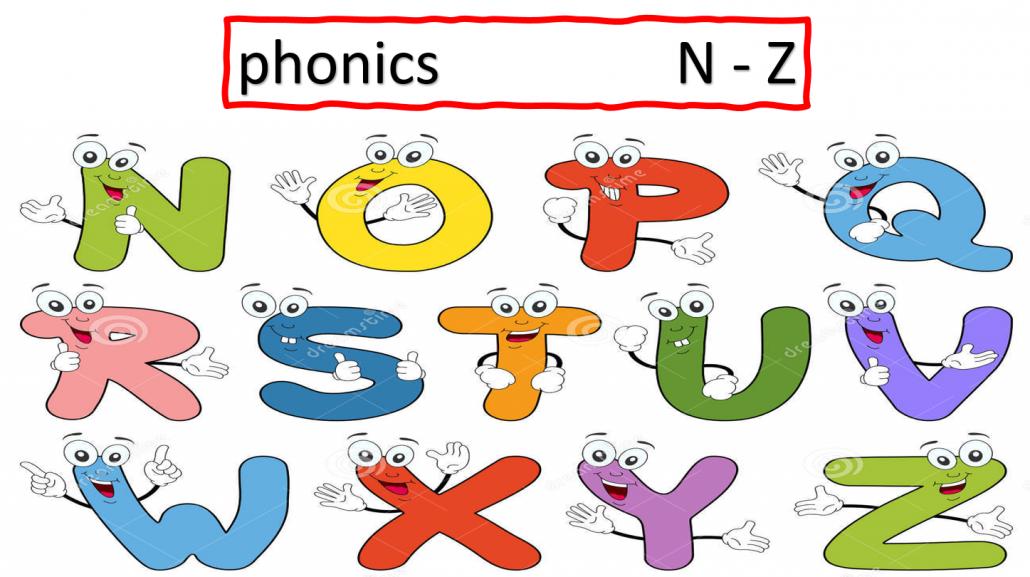 بوربوينت مراجعة phonics n to z للصف الاول مادة اللغة الانجليزية