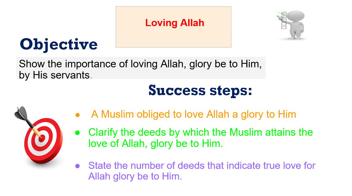 بوربوينت Loving Allah لغير الناطقين باللغة العربية للصف الخامس مادة التربية الاسلامية