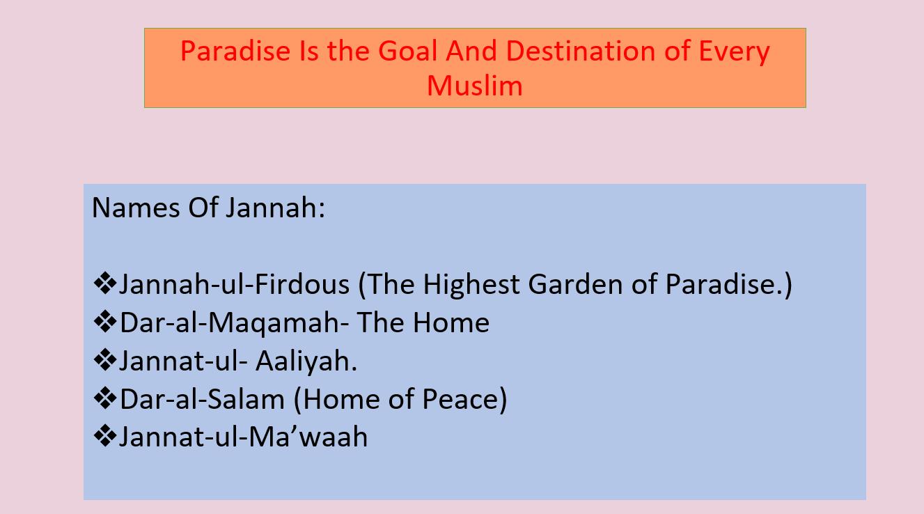 بوربوينت The Way To Paradise لغير الناطقين باللغة العربية للصف الخامس مادة التربية الاسلامية