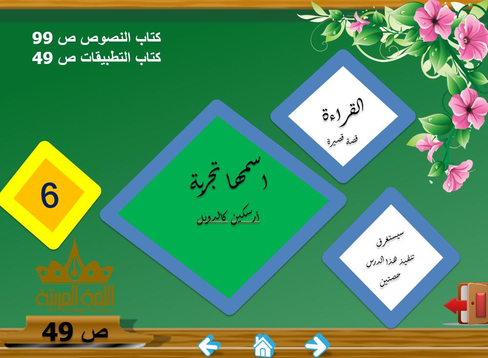 بوربوينت درس اسمها تجربة للصف العاشر مادة اللغة العربية