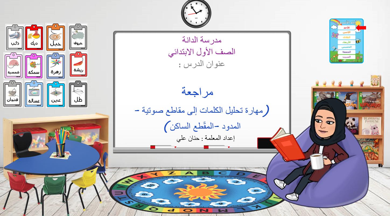 بوربوينت مراجعة عامة و متنوعة للصف الاول مادة اللغة العربية
