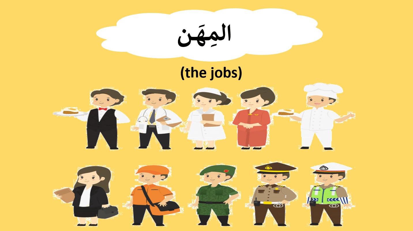 المهن لغير الناطقين بها الصف الاول مادة اللغة العربية - بوربوينت