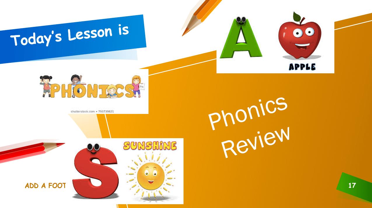 مراجعة الاحرف Phonics Review الصف الاول مادة اللغة الانجليزية - بوربوينت