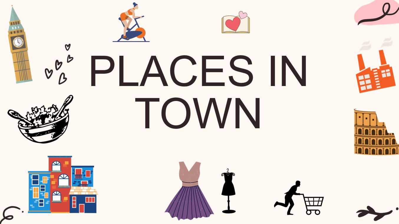 درس Lesson 1-2  Places in Town الصف الثامن مادة اللغة الانجليزية - بوربوينت