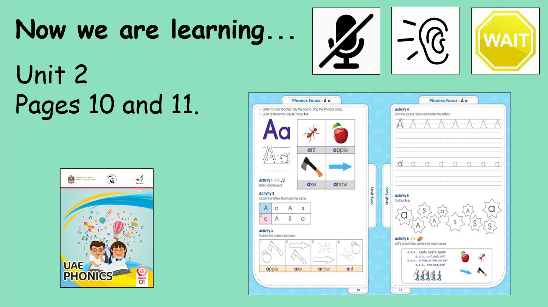 Pages 10 and 11 Unit 2 Lesson 2 الصف الاول مادة اللغة الانجليزية - بوربوينت