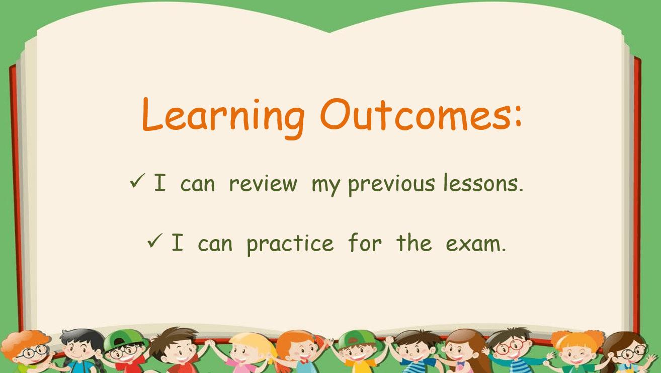 مراجعة نهائية final review الصف الرابع مادة اللغة الانجليزية