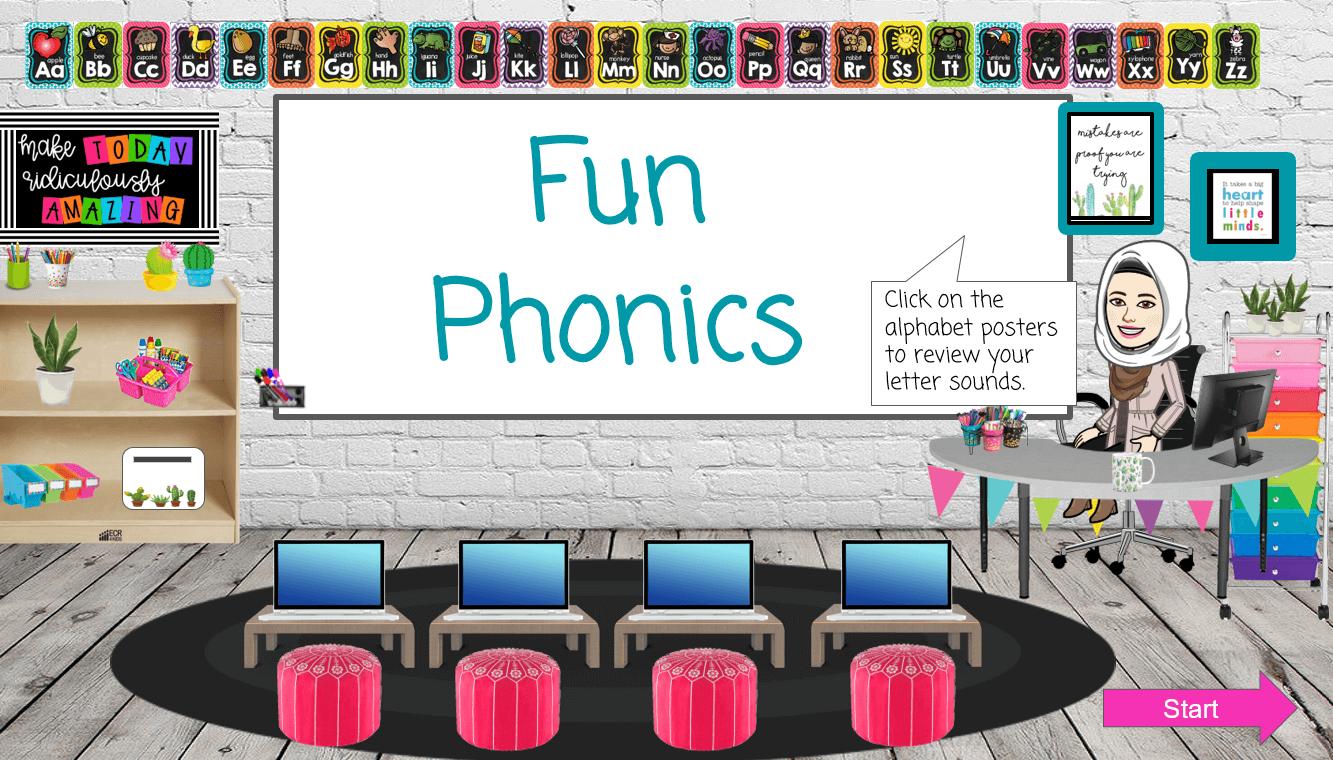 الحروف Fun Phonics الصف الاول مادة اللغة الانجليزية - بوربوينت