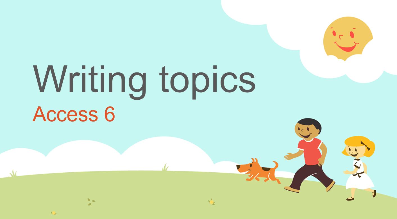 مراجعة Writing topics الصف الخامس مادة اللغة الانجليزية - بوربوينت