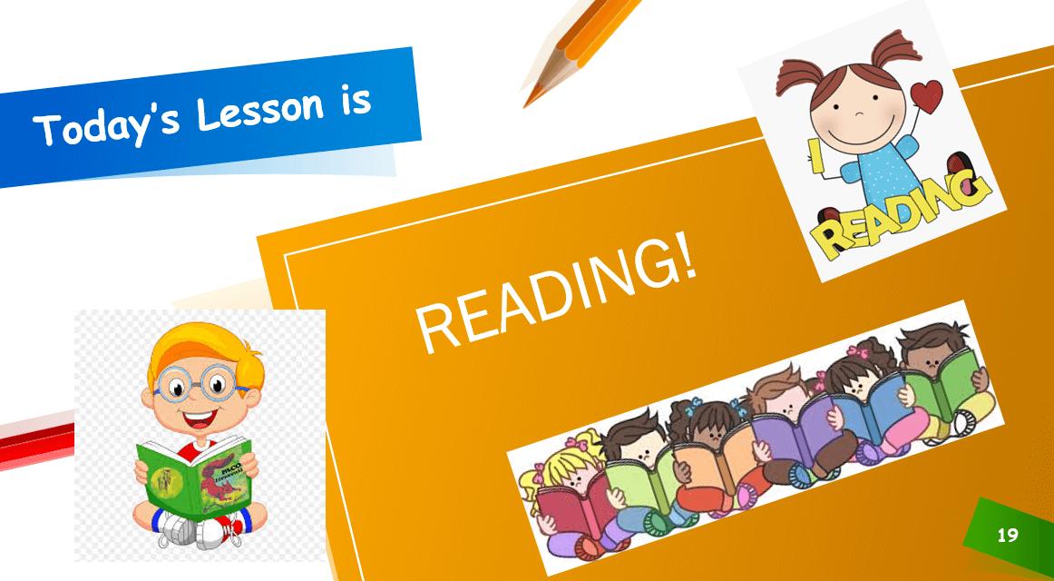 درس READING الصف الاول مادة اللغة الانجليزية - بوربوينت
