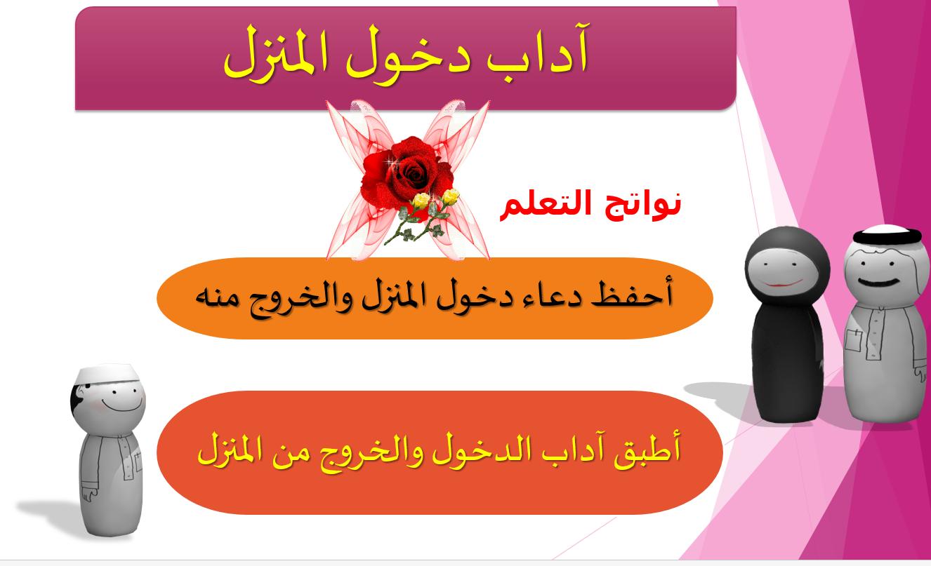 آداب دخول المنزل الصف الرابع مادة التربية الاسلامية - بوربوينت