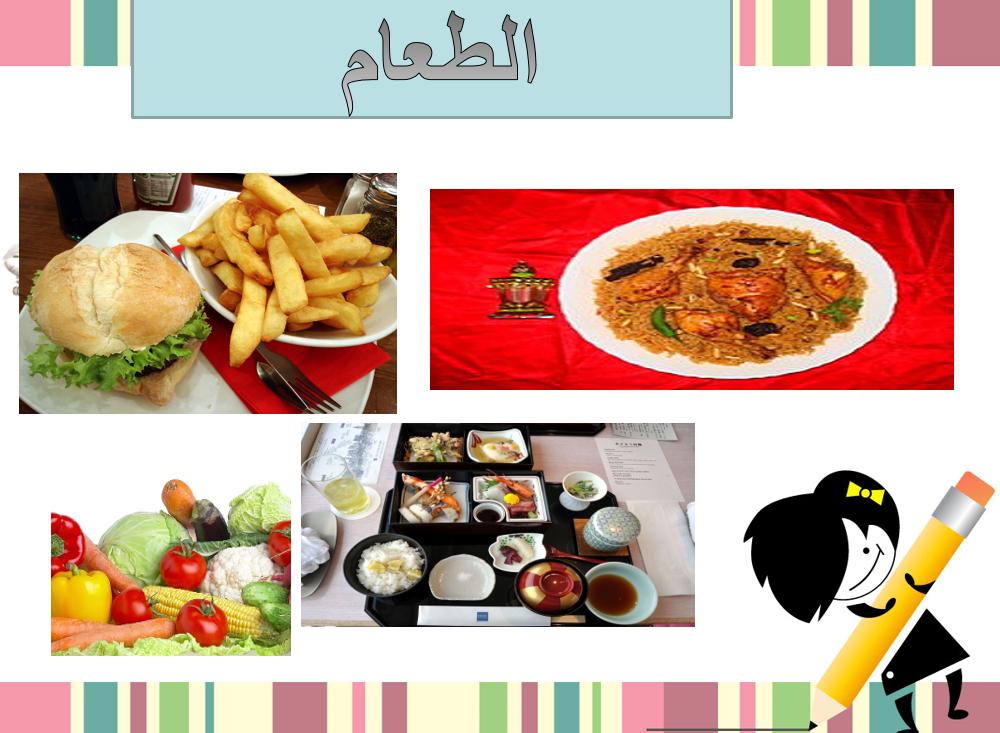 بوربوينت درس الطعام لغير الناطقين بها للصف السادس مادة اللغة العربية ملفاتي