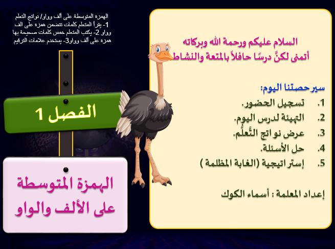 مسابقة من سيربح المليون درس الهمزة المتوسطة على الالف والواو الصف الخامس مادة اللغة العربية