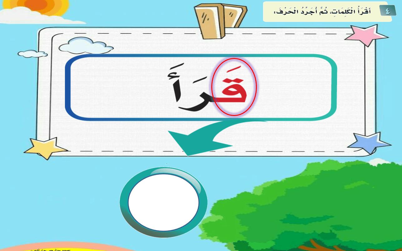 تجريد الحروف من الكلمات الصف الاول مادة اللغة العربية - بوربوينت