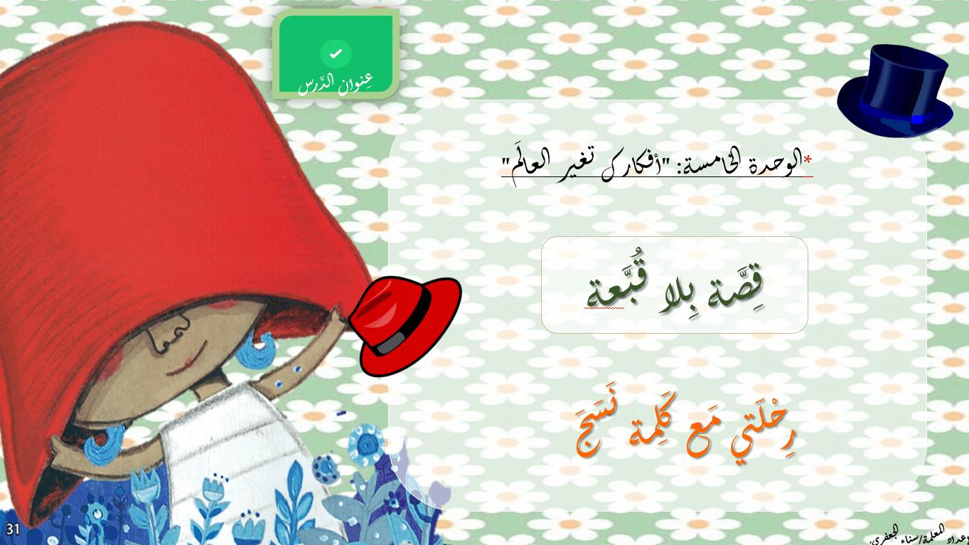 درس رحلتي مع كلمة نسج الصف الثاني مادة اللغة العربية - بوربوينت