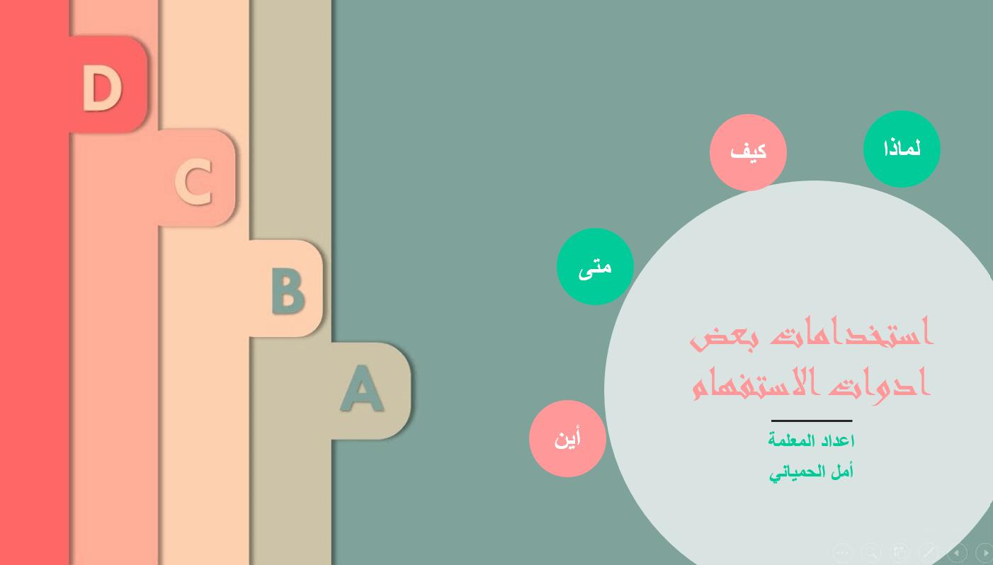 استخدامات بعض أدوات الاستفهام الصف الثاني مادة اللغة العربية - بوربوينت