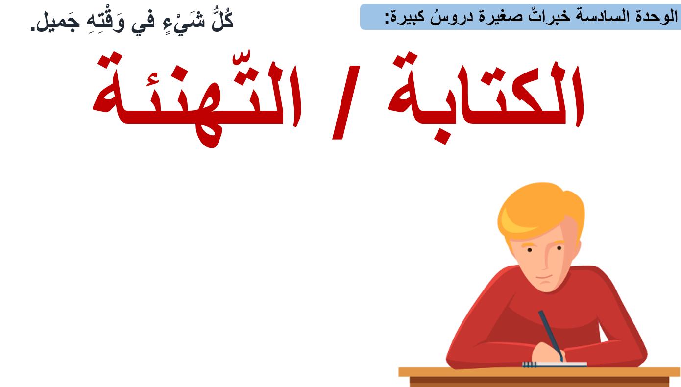 درس الكتابة التهنئة الصف الثاني مادة اللغة العربية - بوربوينت