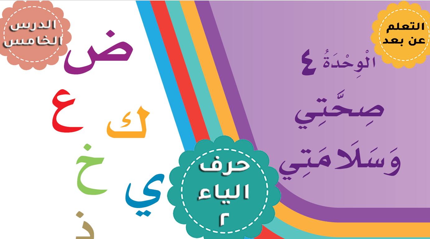 درس حرف الياء 2 الكتابة الصف الأول مادة اللغة العربية - بوربوينت