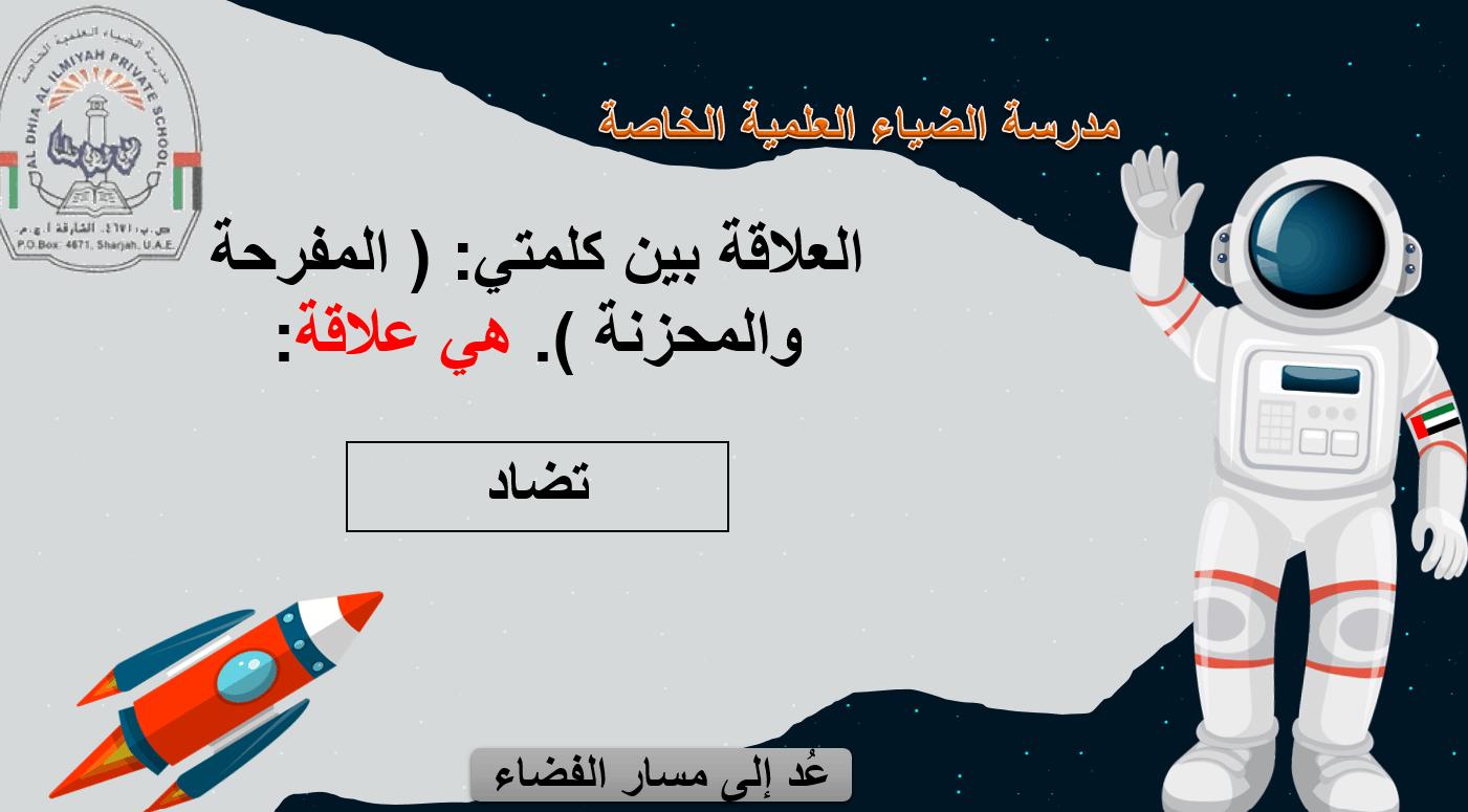 لعبة الفضاء درس هل تريد أن تكتب يومياتك الصف الخامس مادة اللغة العربية - بوربوينت
