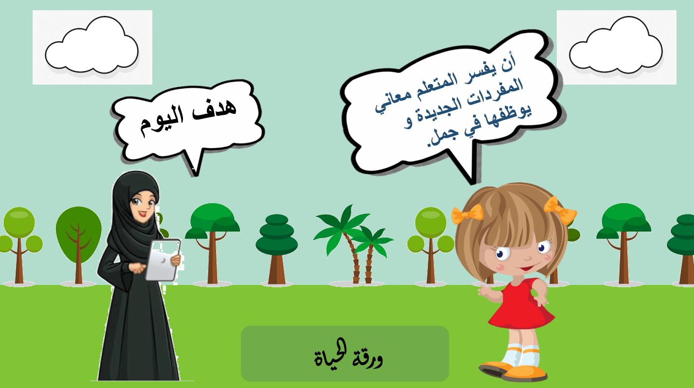 مفردات درس ورقة الحياة الصف الخامس مادة اللغة العربية - بوربوينت