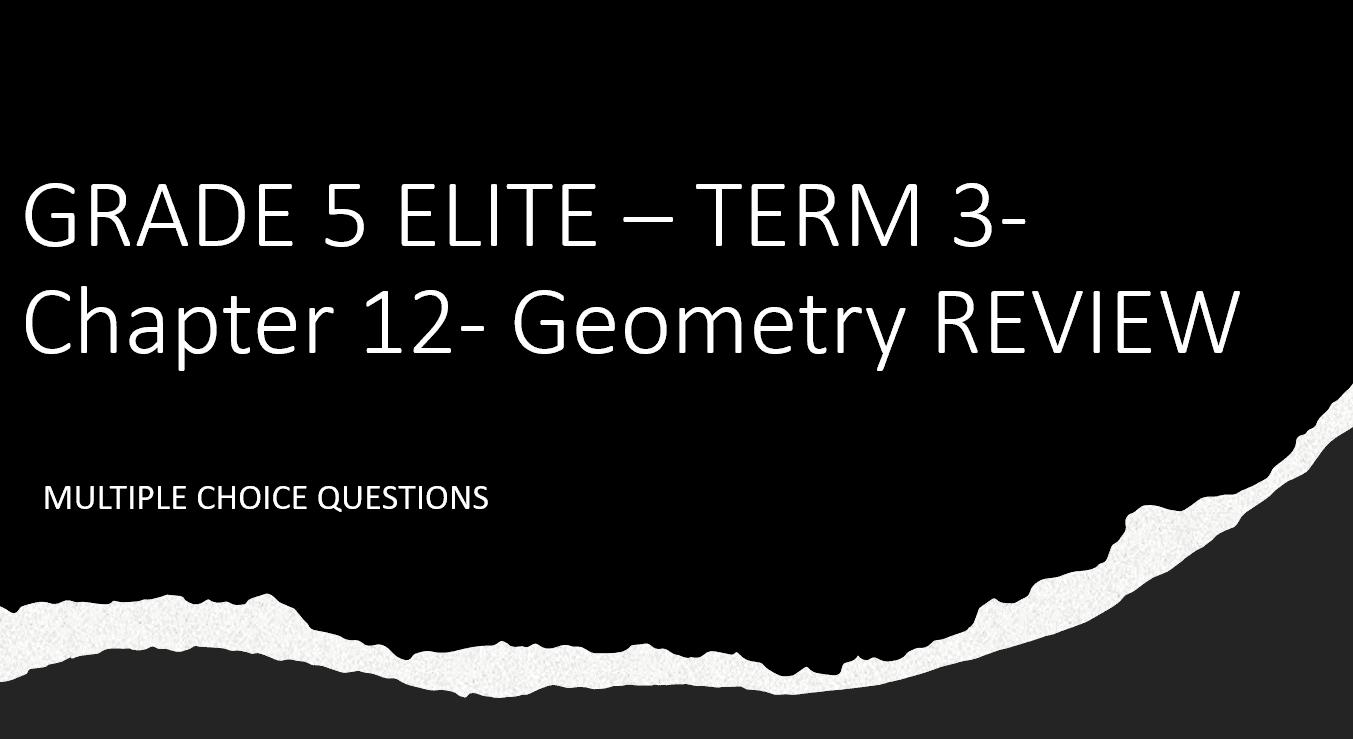 مراجعة Chapter 12 Review بالإنجليزي الصف الخامس مادة الرياضيات المتكاملة - بوربوينت