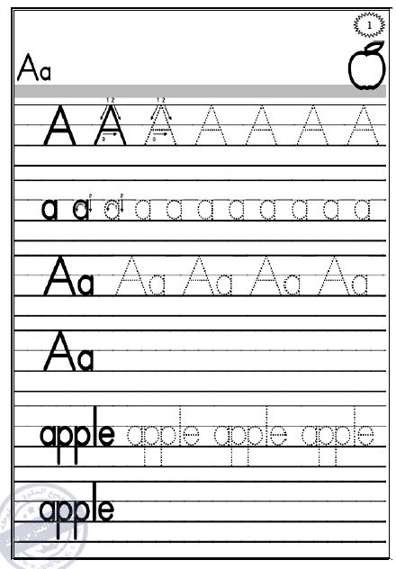مذكرة شاملة لتاسيس رياض الاطفال بحروف اللغة الانجليزية بطريقة مبسطة