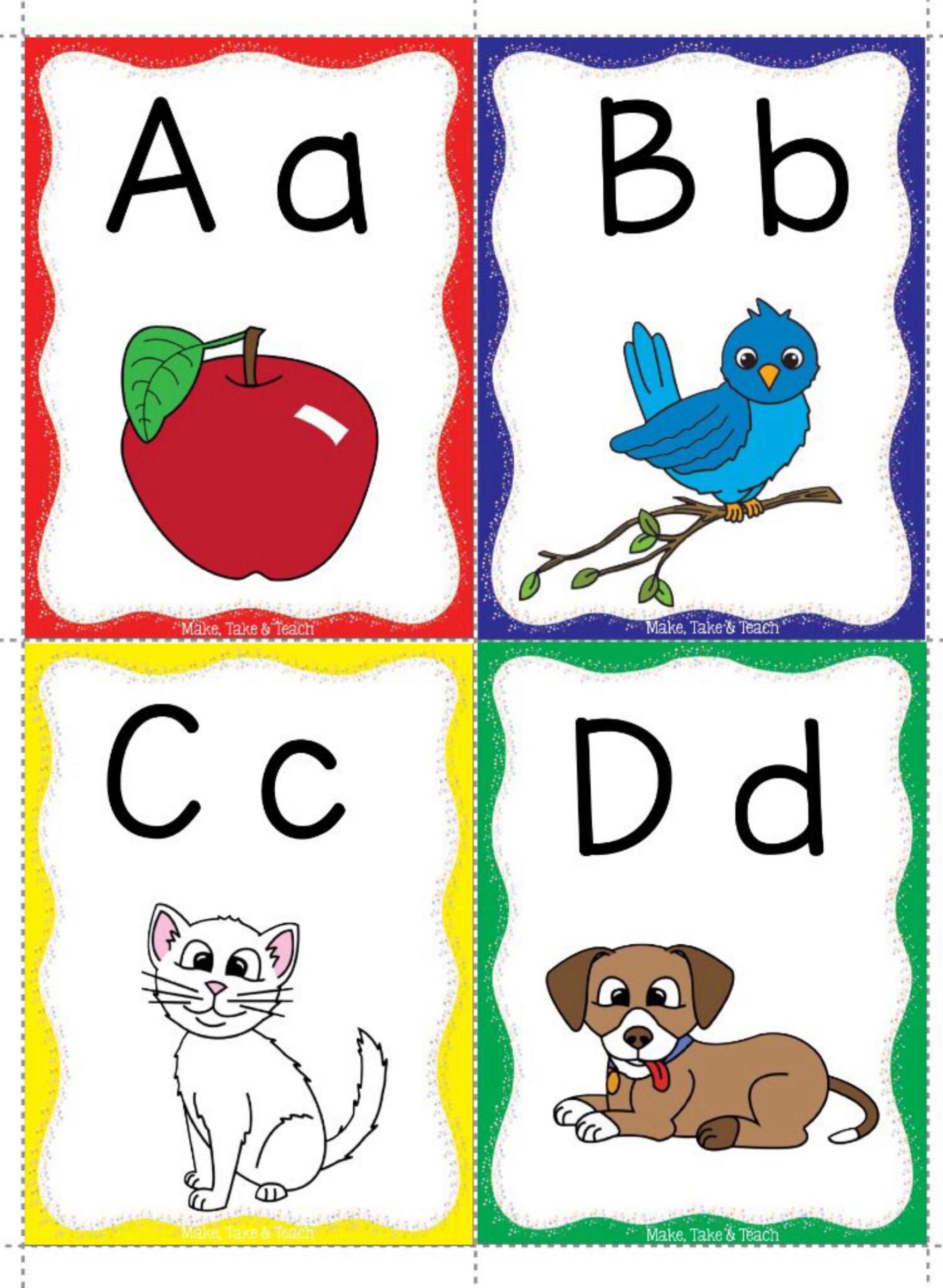 بطاقات تعليم الحروف الانجليزية 2